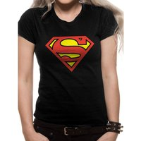 Superman   Logo Fitted Black T-Shirt