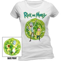 RICK AND MORTY - PORTAL Fitted T-Shirt