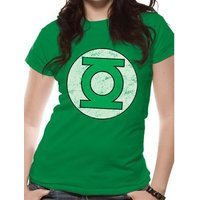 Green Lantern - Distressed Logo Fitted  T-shirt