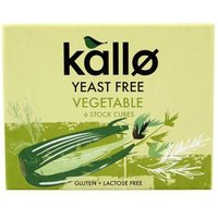 Kallo Yeast Free Vegetable Stock Cubes 60g