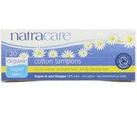 NatraCare Organic Non-Applicator Tampons Super X 20