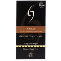 Gemini Chocolate 70% Dark Chocolate Bar with Creamy Coconut 90g