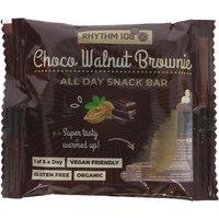 Rhythm 108 Chocolate Walnut Brownie All-Day Snack Bar - 40g
