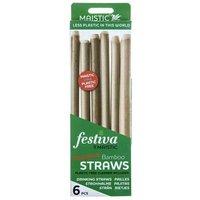 Maistic Bamboo Straws & Cleaner 6 Straws Per Pack
