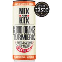 Nix and Kix Blood Orange & Turmeric Soft Drink 250ml
