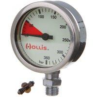 Hollis Chrome Plated Brass Pressure Gauge