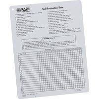 PADI Skills Evaluation Slate