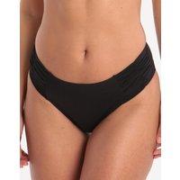 Watercult Watercult Summer Solids Ruched Side Hipster Bikini Bottom - Black