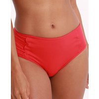 Seafolly Swim Petal Edge Mid Rise Bikini Bottom - Chilli