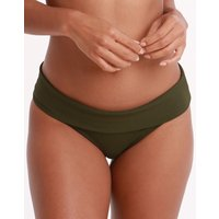 Melissa Odabash Brussels Fold Bikini Bottom - Olive Ribbed