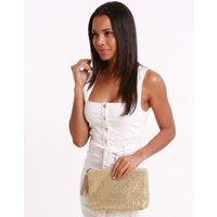 Melissa Odabash Melissa Odabash Ischia Woven Clutch Bag - Gold