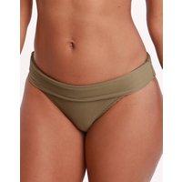 Heidi Klein Heidi Klein Venice Fold Over Bikini Bottom - Khaki