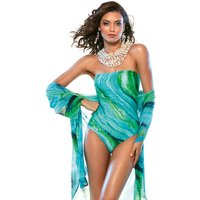 Roidal Roidal Oceanic B Cup Bandeau Swimsuit - Turquoise
