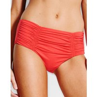Seafolly Swim Gathered Front Retro Bikini Bottom - Chilli