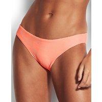 Seafolly Capri Sea Hipster Bikini Bottom - Fluorescent Melon