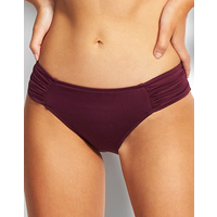 Seafolly Swim Ruched Side Retro Bikini Bottom - Boysenberry