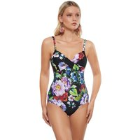 Roidal Roidal Lilian Underwired Crossover Swimsuit - Black