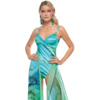 Roidal Roidal Oceanic Underwired Crossover Swimsuit - Turquoise