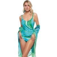 Roidal Roidal Oceanic Ladivia Tummy Control Swimsuit - Turquoise