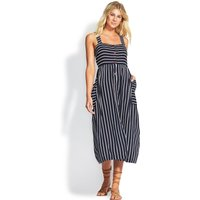 Seafolly Stripe Button Through Dress - Indigo