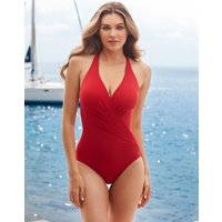 Miraclesuit Rock Solid Wrapsody Swimsuit - Cayenne