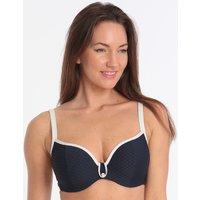 Marie Jo Brigitte Heart Shape Padded Bikini Top - Blue Noir
