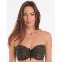 PrimaDonna PrimaDonna Sherry Padded Strapless Bikini Top - Khaki