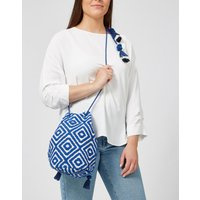 Ashiana Malibu Bucket Backpack - Blue Pattern