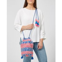 Ashiana Malibu Bucket Backpack - Blue and Pink