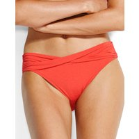 Seafolly Swim Twist Band Hipster Bikini Bottom - Chilli Red