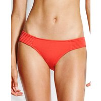 Seafolly Swim Quilted Hipster Bikini Bottom - Chilli Red