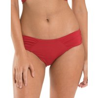 Jets Jetset Gathered Side Bikini Bottom - Chilli