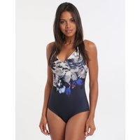 Jets Jets Picturesque D DD Underwire Swimsuit - Ink White