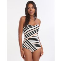 Jets Jets Vista Bandeau Swimsuit - Black White