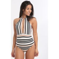 Jets Jets Vista High Neck Swimsuit - Black White