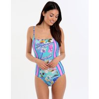 Gottex Samosir Square Neck Tank Swimsuit - Multi