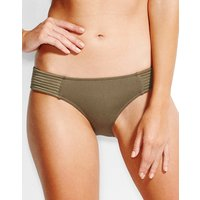 Seafolly Swim Quilted Hipster Bikini Bottom - Dark Olive