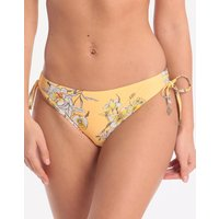 Seafolly Mid Summer Loop Tie Side Hipster Bikini Bottom - Buttercup