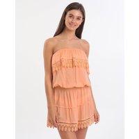 Melissa Odabash Joy Bandeau Lace Dress - Mango