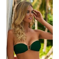 Melissa Odabash Barcelona Bandeau Bikini Top - Forest