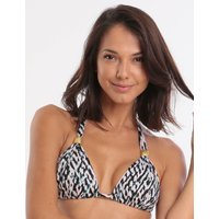 Jo Severin Nora Slide Halter Bikini Top - Abstract