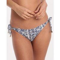 Heidi Klein Kenya Scallop Tie Side Bikini Bottom - Print