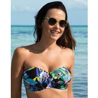 Fantasie Paradise Bay UW Twist Bandeau Bikini Top- Aqua Multi