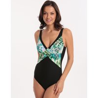 Charmline Charmline Wildlife Waters Cross Front Swimsuit - Jungle