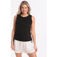 Seafolly Active Lace Up Singlet Top - Black