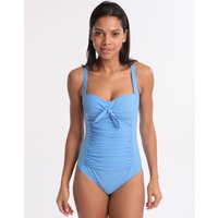 Moontide Contours Twist Swimsuit - Azure Blue