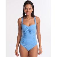 Moontide Moontide Contours Twist Swimsuit - Azure Blue