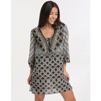 Gottex Chains of Gold Tunic Dress - Multi Black