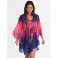 Gottex Belle Fleur Short Kaftan - Multi Purple