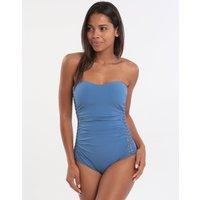 Gottex Profile Fishnet Macrame Detail Bandeau Swimsuit - Dusk Blue